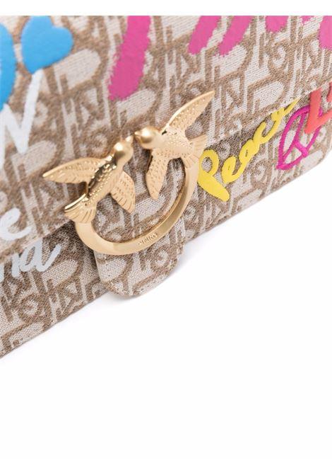 Borsa a tracolla Love Classic Icon Street Logo in pelle beige PINKO | Borse a tracolla | 1P22CP-Y7G6C61