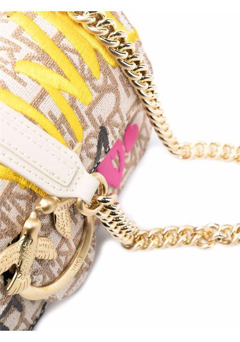 Borsa a tracolla beige multicolore Love Icon Street Mini PINKO | Borse a tracolla | 1P22CQ-Y7G6C61