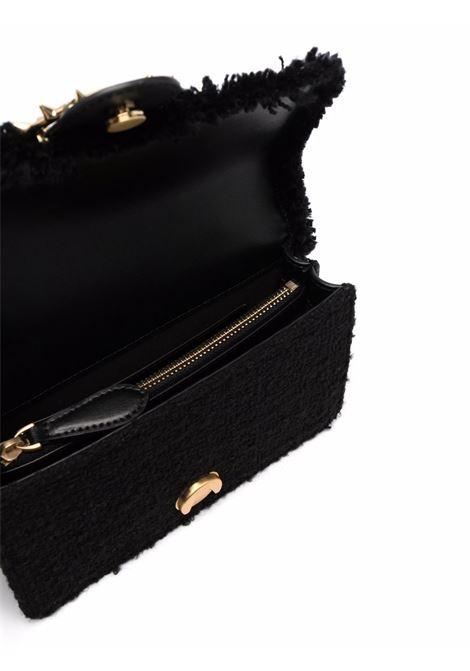 Borsa a tracolla sfrangiata Love Mini Icon Madame Je in pelle nera PINKO | Borse a tracolla | 1P22CV-Y7G9C99