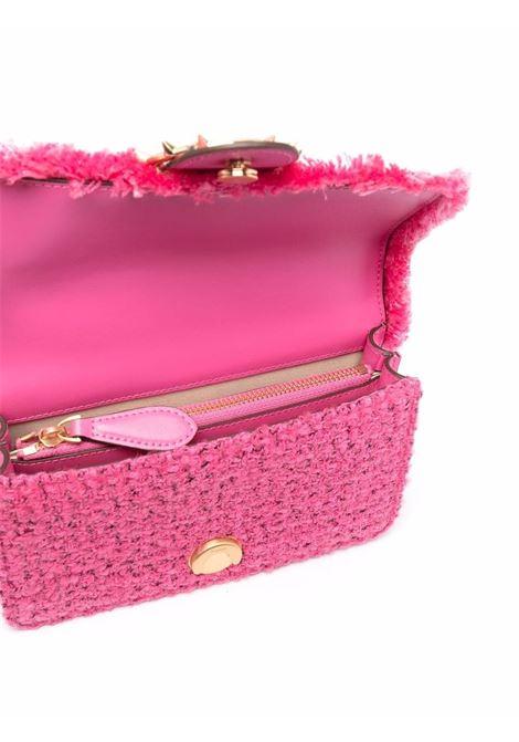 Borsa a tracolla in tweed rosa Love Mini Icon Madame Je PINKO | Borse a tracolla | 1P22CV-Y7G9NJ7