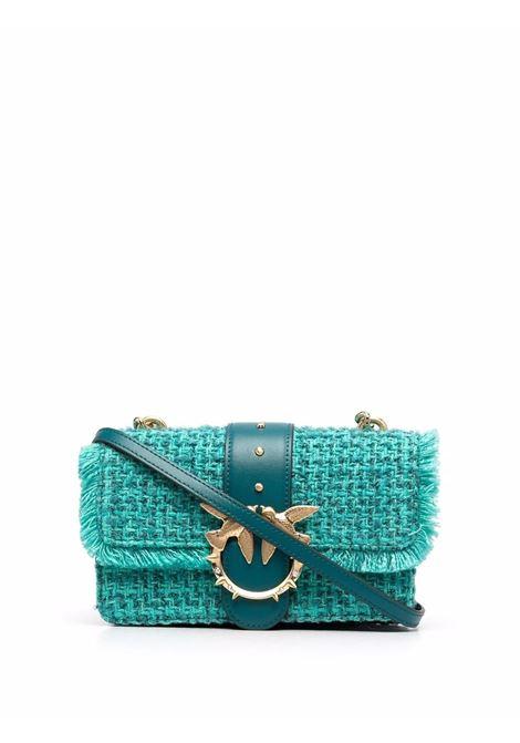 Borsa a tracolla in tweed azzurro acqua Love Mini Icon Madame Je PINKO | Borse a tracolla | 1P22CV-Y7G9SS6