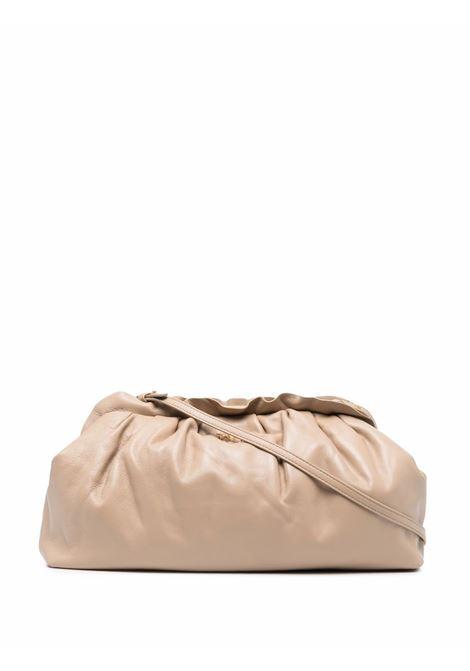 Borsa in pelle beige con bordo arricciato con texture a grana PINKO | Clutch | 1P22EM-Y7FQC61