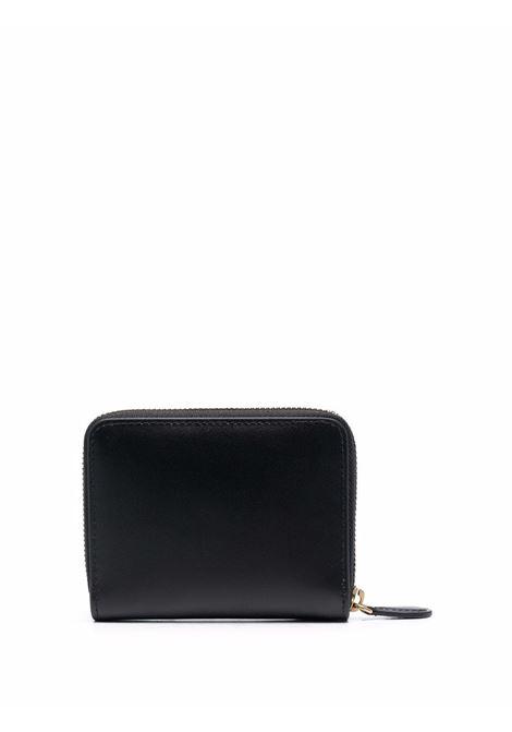 Portafoglio compatto Love Birds in pelle nera con logo Pinko color oro PINKO | Borse a tracolla | 1P22EW-Y6XTZ99