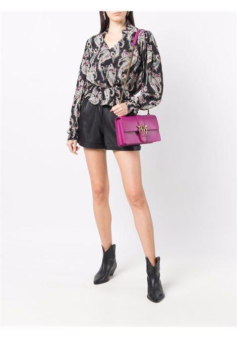 Borsa a tracolla Love Classic Icon Simply in pelle rosa scuro PINKO | Borse a tracolla | 1P22GE-Y6XTW48