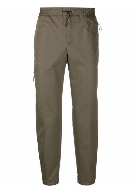 Khaki green virgin wool and cotton blend drawstring tracksuit  PT01 |  | CPRSZ0ZF0PRA-RU070445