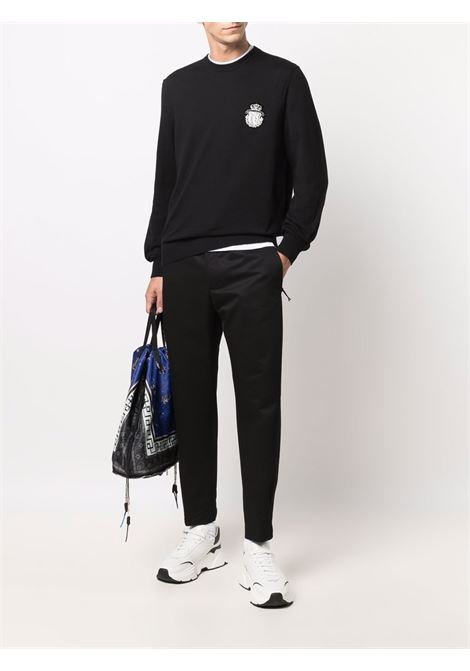 Black virgin wool and cotton  straight-leg cargo trousers  PT01 |  | CPRSZ0ZF0PRA-RU070990