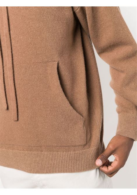 Brown cashmere and wool hooded jumper  ROBERTO COLLINA |  | RF3600705