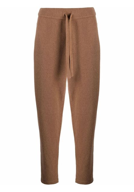 Brown cashmere and wool drawstring tracksuit bottoms ROBERTO COLLINA |  | RF3604905