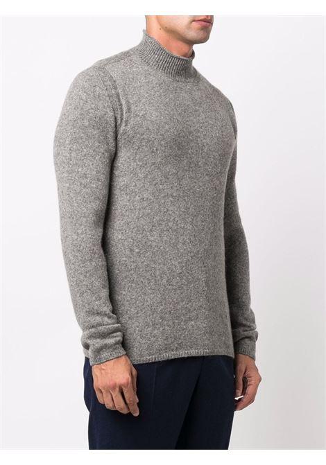 Grey merino and camel hair roll neck jumper  ROBERTO COLLINA |  | RF4010618
