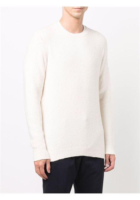 White cotton crew-neck knit jumper  ROBERTO COLLINA |  | RF4500102