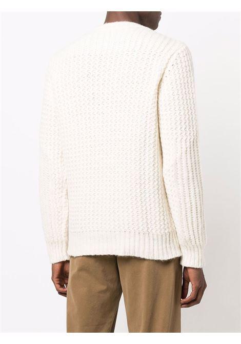 White wool textured knit jumper  ROBERTO COLLINA |  | RF4700102