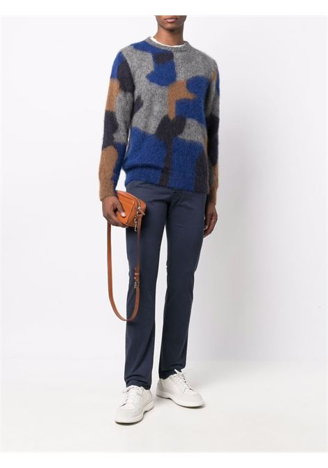 Blue and grey wool mohair camouflage knit jumper  ROBERTO COLLINA |  | RF5600110