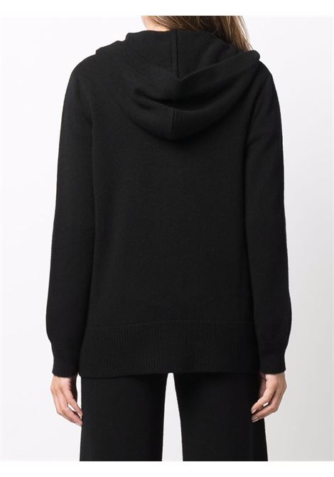Black wool and cashmere hooded rib-trimmed cardigan SNOBBY SHEEP |  | 21W.11010999
