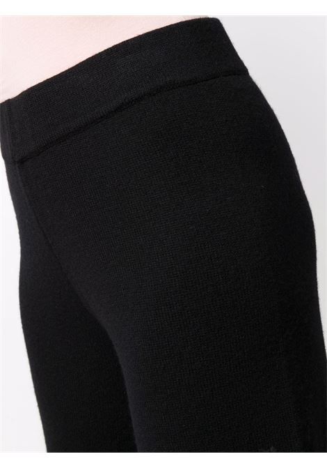 Black wool and cashmere wide-leg knitted trousers  SNOBBY SHEEP |  | 21W.11020999