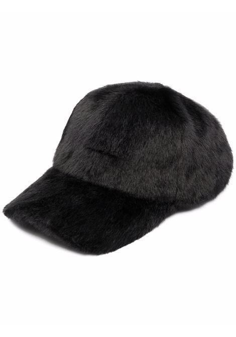 Cappello da baseball in ecopelliccia di cotone nero con visiera curva. STAND STUDIO | Cappelli | CIA-61505-969089900