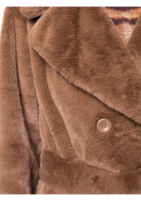 cappotto in ecopelliccia marrone con cintura in vita STAND STUDIO | Cappotti | FAUSTINE COAT-61184-902010000