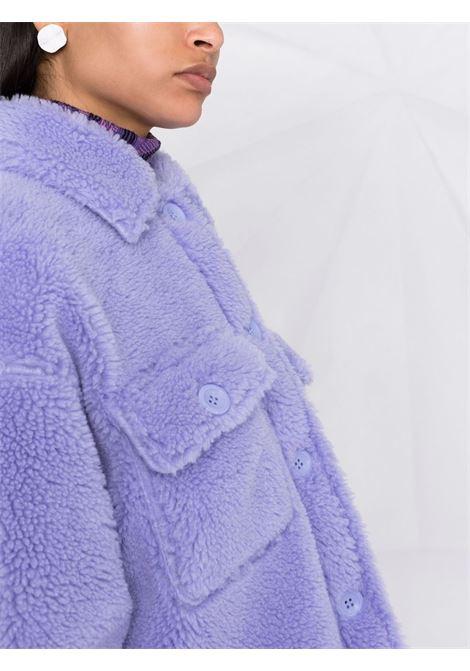 Lilac wool and fleece Sabi shirt-jacket featuring faux-shearling design STAND STUDIO |  | SABI-61179-904020400