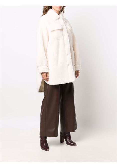 White wool and cotton Sabi fleece shirt coat   STAND STUDIO |  | SABI-61179-904090000
