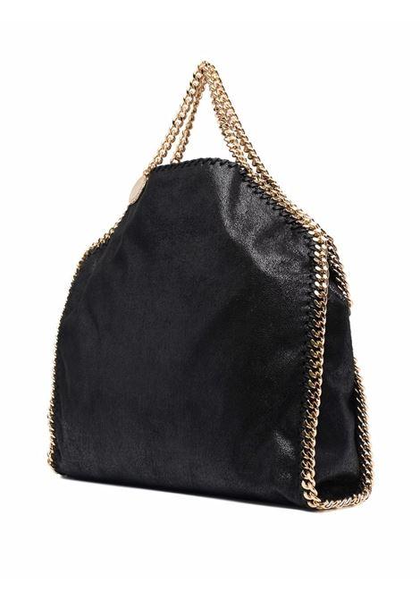 Black faux leather Falabella foldover tote bag  STELLA MC CARTNEY |  | 234387-W93551000
