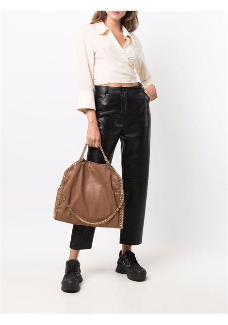 Brown faux leather Falabella tote bag with gold chain shoulder strap STELLA MC CARTNEY |  | 234387-W93552200