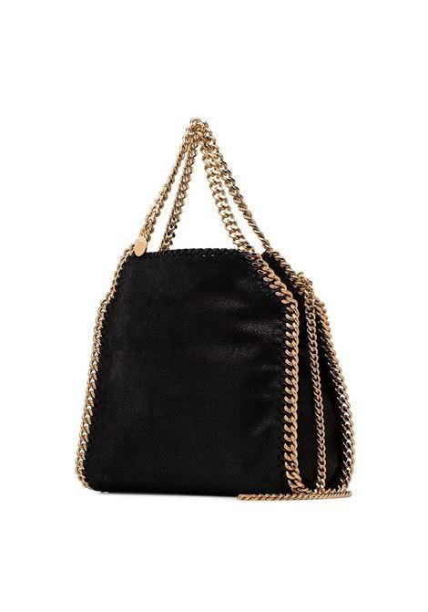 black faux leather mini Falabella tote with gold-tone chain STELLA MC CARTNEY |  | 371223-W93551000