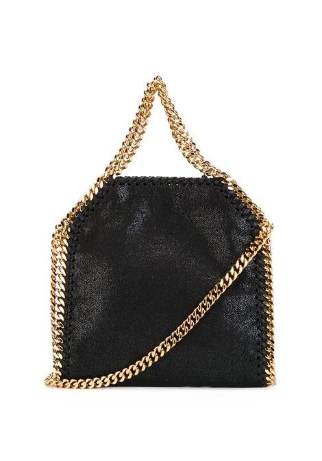 Black eco-leather tiny Falabella tote bag featuring gold-tone hardware STELLA MC CARTNEY |  | 391698-W93551000