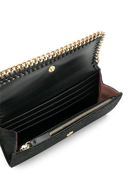 portafoglio Falabella in ecopelle nera con dettagli a catena dorata STELLA MC CARTNEY | Portafogli | 430999-W93551000