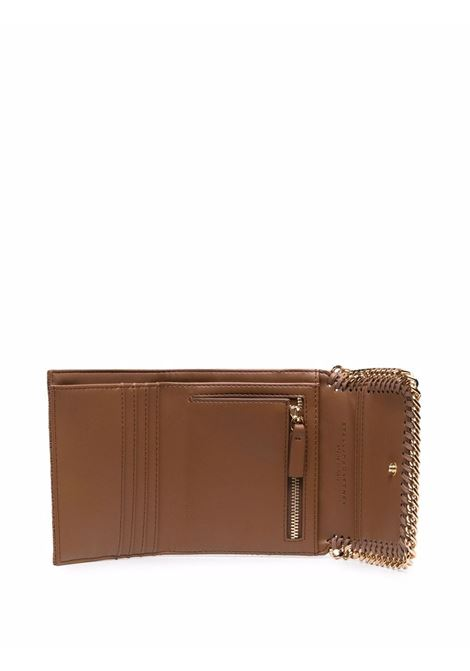 Brown faux leather small Falabella wallet with gold chain STELLA MC CARTNEY |  | 431000-W93552200