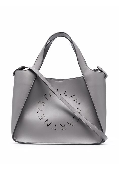 Grey faux leather Stella logo tote bag featuring removable pouch STELLA MC CARTNEY |  | 513860-W85421506