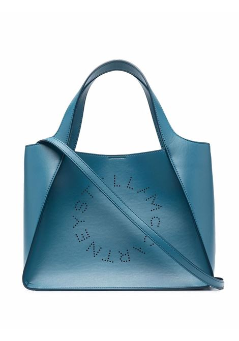Borsa tote blu Stella Logo con  logo Stella McCartney traforato STELLA MC CARTNEY   Borse a tracolla   513860-W85424601