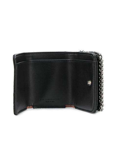 portafoglio Falabella in ecopelle nera con rifiniture a catena argentata STELLA MC CARTNEY | Portafogli | 521371-W91321000