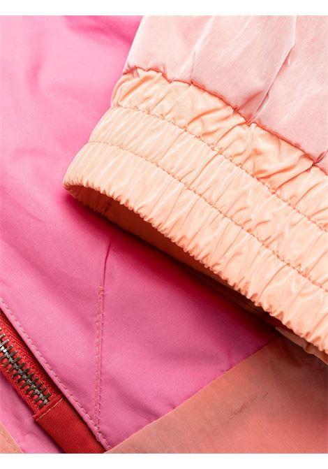 Parka color block Maia rosa miele con logo Stella McCartney STELLA MC CARTNEY | Cappotti | 603179-SSA145621