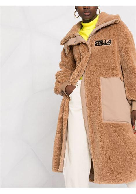 Cappotto Luna in eco montone marrone biscotto c STELLA MC CARTNEY | Cappotti | 603281-SSB039802
