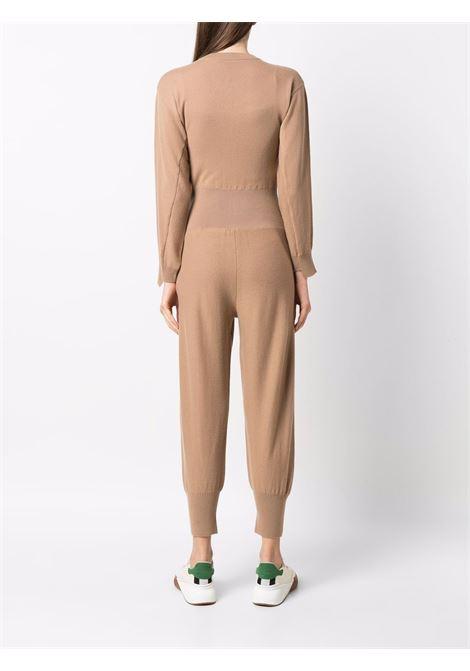 Tuta Forever Stella in maglia di lana vergine color cammello STELLA MC CARTNEY | Tuta | 603613-S22549802