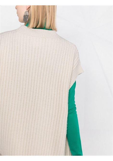 Maglia a maniche corte in cotone beige con girocollo STELLA MC CARTNEY | Maglieria | 603654-S22559002