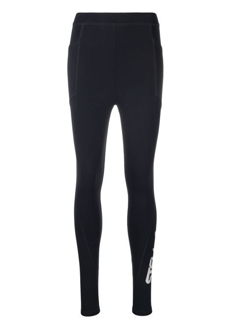 Leggings elasticizzato in scuba navy con logo Stella McCartney STELLA MC CARTNEY | Pantaloni | 603681-SPW054000