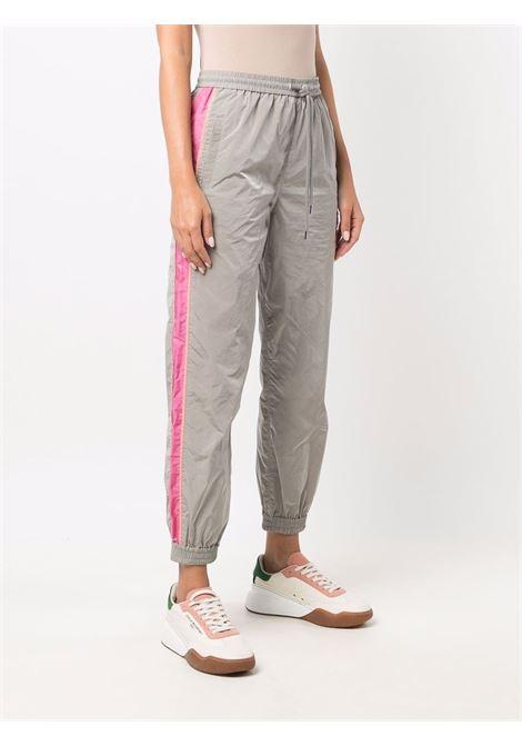 Pantaloni sportivi Kira in cotone grigio con banda laterale rosa STELLA MC CARTNEY | Pantaloni | 603722-SSA141202