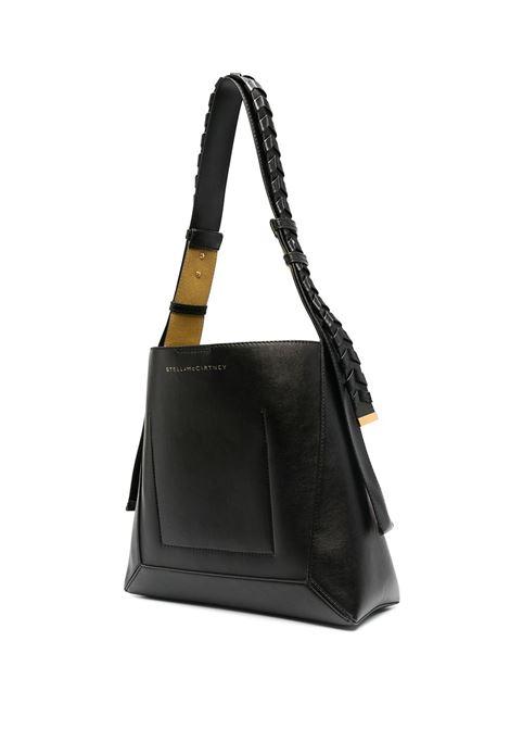Black faux-leather medium Hobo shoulder bag  STELLA MC CARTNEY |  | 700167-W87751000