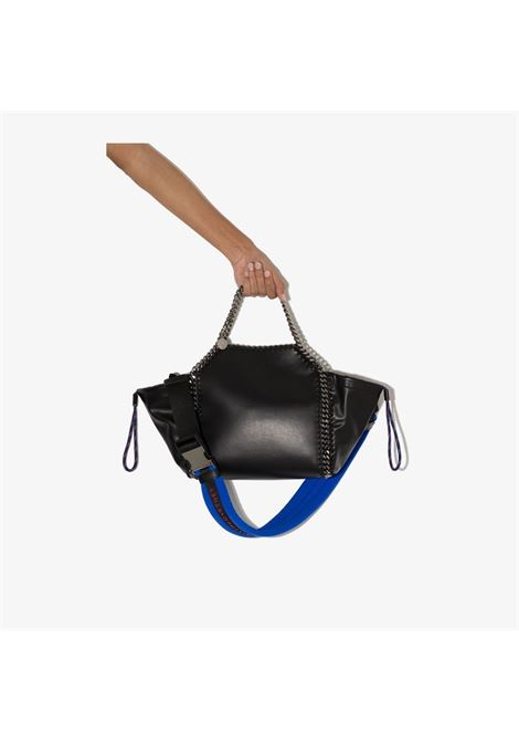 black eco-leather tote bag featuring electric blue shoulder strap STELLA MC CARTNEY |  | 700231-W88361000