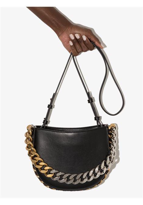 Black faux-leather Frayme faux-leather shoulder bag STELLA MC CARTNEY |  | 700237-W88391000