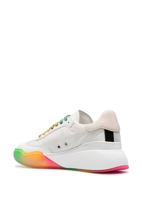 White and multicoloured recycled polyester Loop sneakers  STELLA MC CARTNEY |  | 800389-N02509011