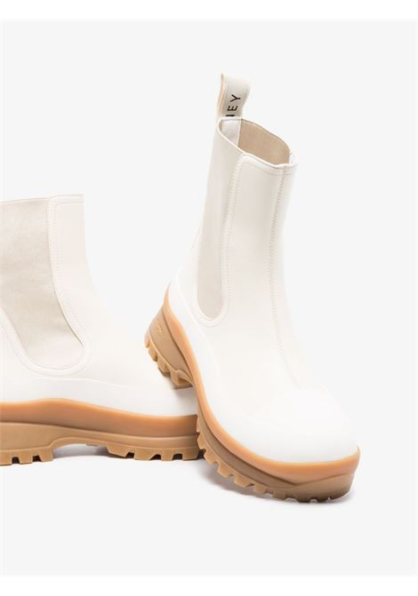 Cream faux leather Trace boots with dark brown sole STELLA MC CARTNEY |  | 800397-N0244K927