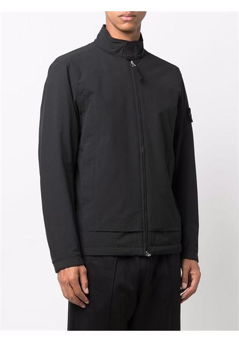 Camicia/giacca nera in cotone STONE ISLAND | Giubbini | 751541527V0029