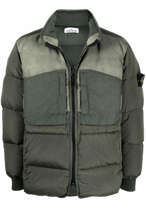 Green feather down padded jacket  STONE ISLAND |  | 751542840V0055