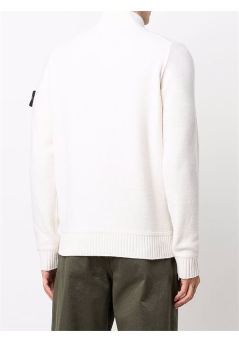White virgin wool half-button high neck jumper  STONE ISLAND |  | 7515522B6V0099