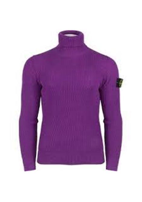 Purple wool jumper featuring Stone Island logo patch  STONE ISLAND |  | 7515525C2V0045