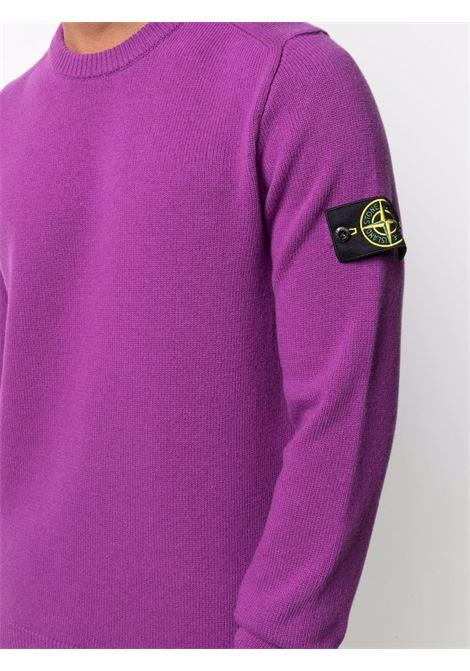 Purple wool crew-neck jumper  STONE ISLAND |  | 7515535A3V0045