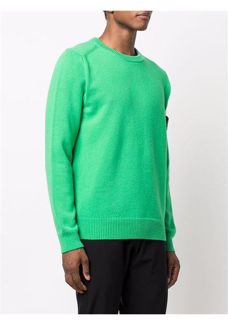 Shamrock green wool crew-neck jumper  STONE ISLAND |  | 7515535A3V0050