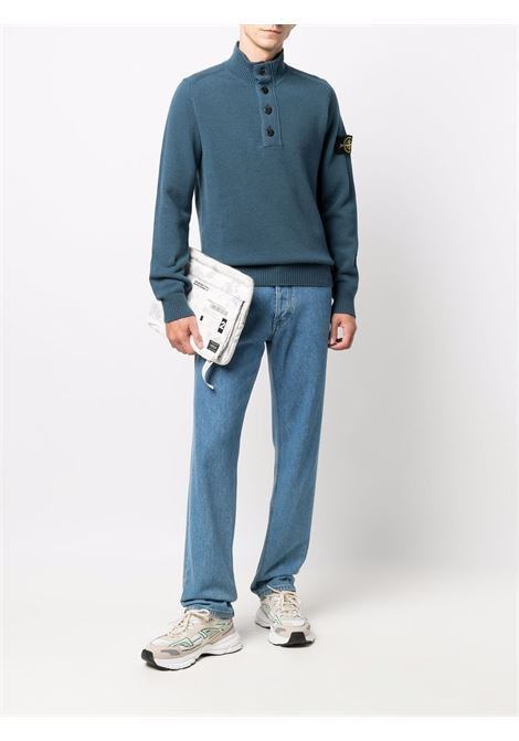 high neck buttoned jumper featuring Stone Island logo patch  STONE ISLAND |  | 7515540A3V0023