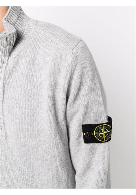 Grey wool buttoned jumper featuring Stone Island logo  STONE ISLAND |  | 7515540A3V0061